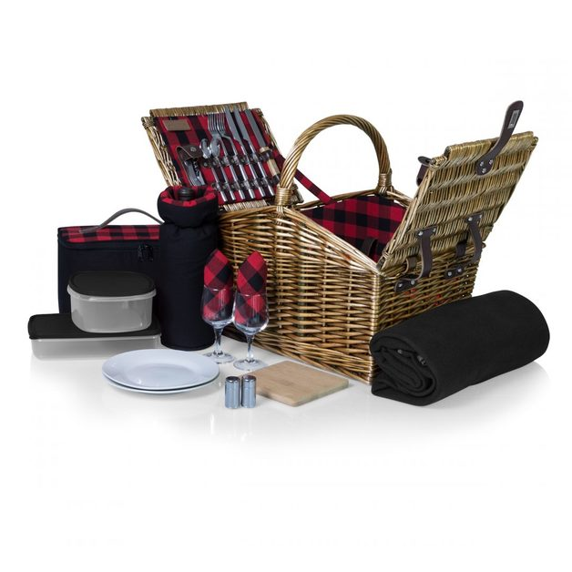 Picnic Time: Somerset Deluxe Picnic Basket (Plaid)