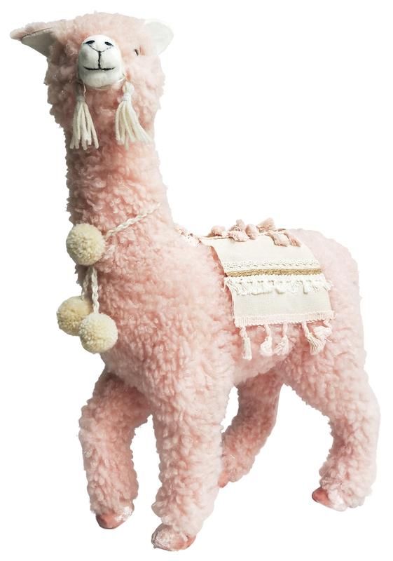 Urban Products: Peach Boho Fluffy Llama - Large
