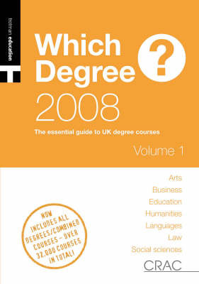 A Students' Guide to UK Degree Courses: 2008: Vol. 2 image