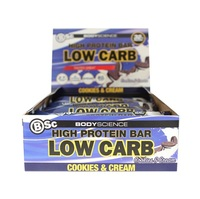 BSC High Protein Low Carb Bar - Cookies & Cream (8 Pack)
