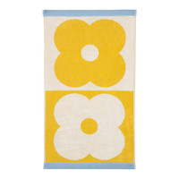Orla Kiely Spot Flower Domino Bath Towel - Lemon Yellow