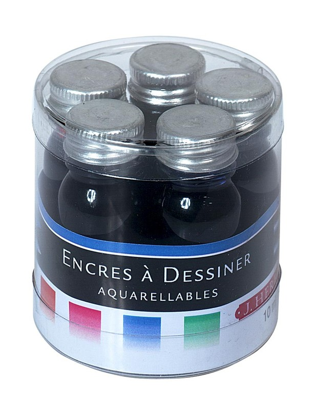 J Herbin: Inks Sampler - Watercolored (5 Pack)