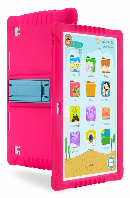 Ape Basics: 10.1 Quadcore Kids Android Tablet & Case - Pink