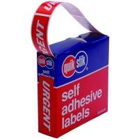Quik Stik Urgent Permanent Labels Pkt250