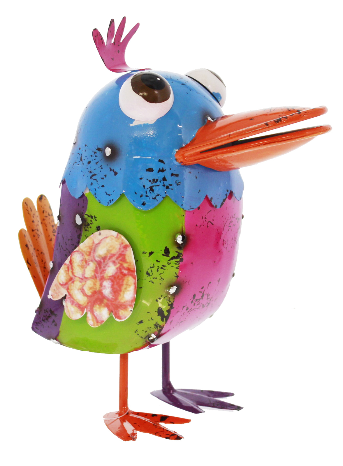 Cheeky metal animal ornament bicky bird at mighty ape nz