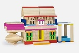 VIGA Wooden Toys - Coloured Construction Set - 250pc