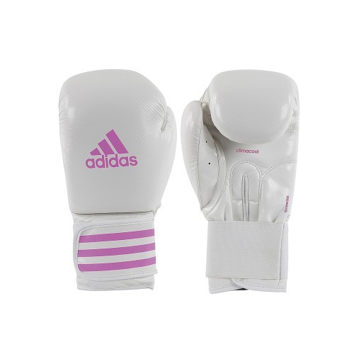 ADIDAS FPpower 200 Boxing Glove (White/Pink 14oz)