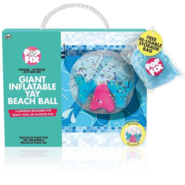 Pop Fix Confetti YAY Beach Ball