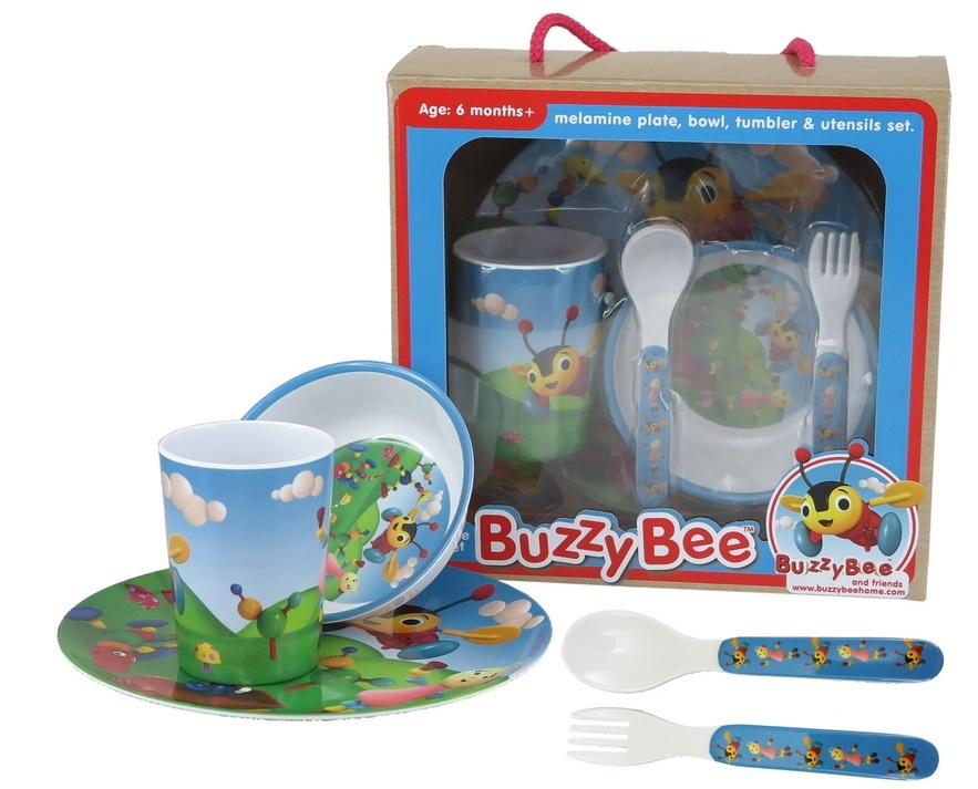 Antics: Buzzy Bee - Children's Melamine Set image