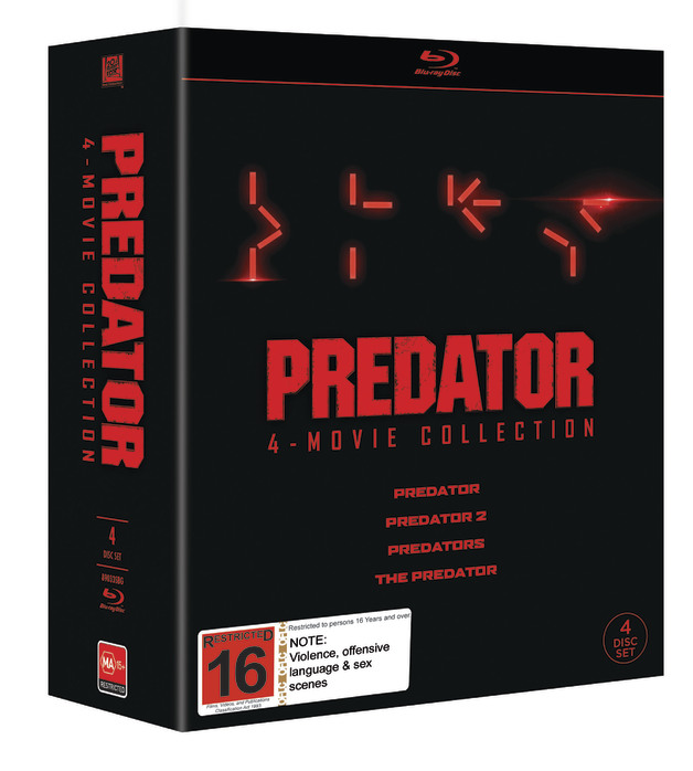 Predator 1-4 Boxset on Blu-ray