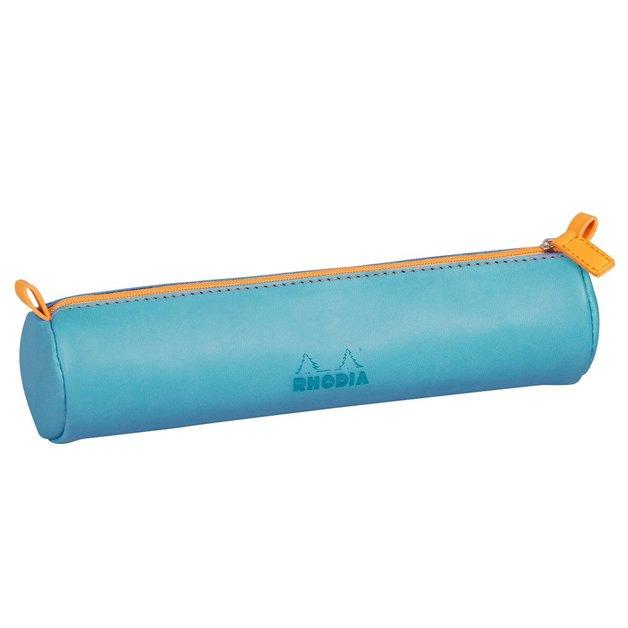 Rhodiarama Round Pencil Case - Turquoise