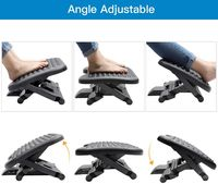 Adjustable Under Desk Footrest - Ergonomic Foot Rest with 3 Height Positions