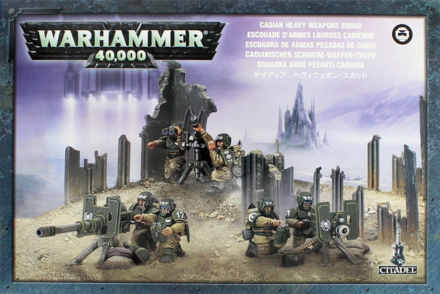 Warhammer 40,000 Imperial Guard Cadian Heavy Weapon Squad