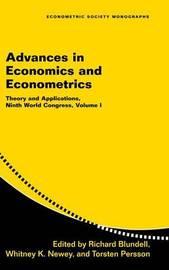 Advances in Economics and Econometrics: Volume 1 image