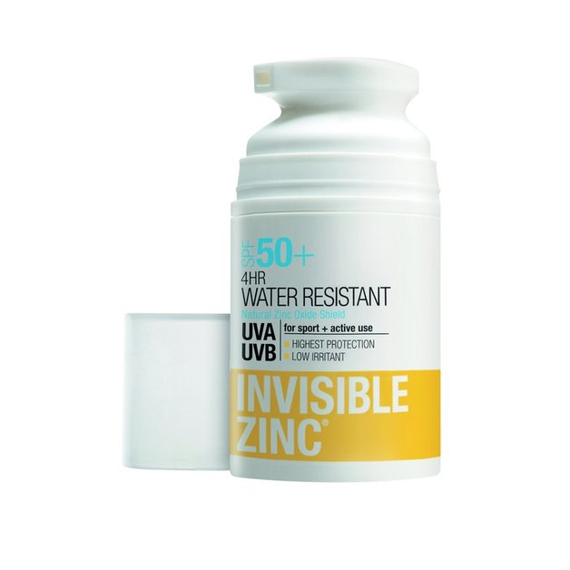 Invisible Zinc 4hr Water Resistant SPF50+ (50ml)