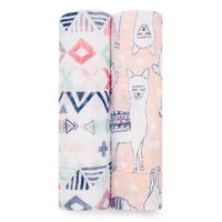 Aden + Anais: Classic Swaddle - Trail Blooms (2 Pack)