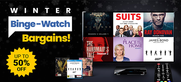Winter Binge-Watch Bargains! Save up to 50% off!