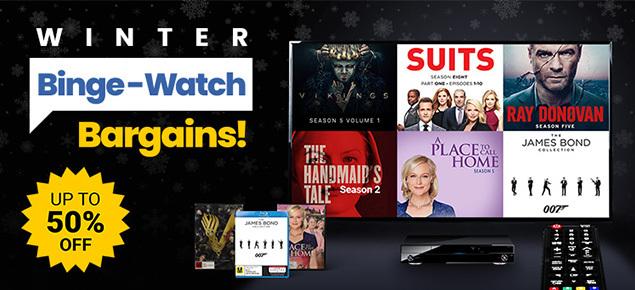 Winter Binge-Watch Bargains! Save up to 50% off!