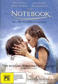 The Notebook on DVD