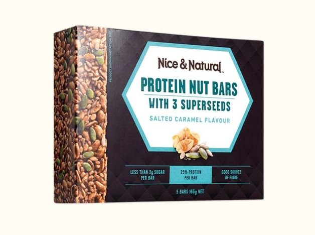 Nice & Natural Protein Nut Bars - Salted Caramel (165g)