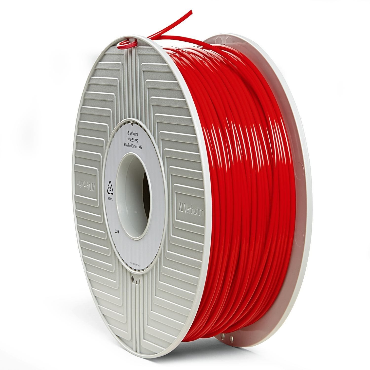 Verbatim 3D Printer PLA 3.00mm Filament - 1kg Reel (Red) image