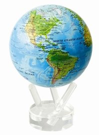 MOVA Self Rotating Globe Blue with Relief Map - 11.5cm