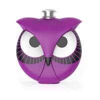 TrueZoo: Novelty Flask - Owl (Purple)