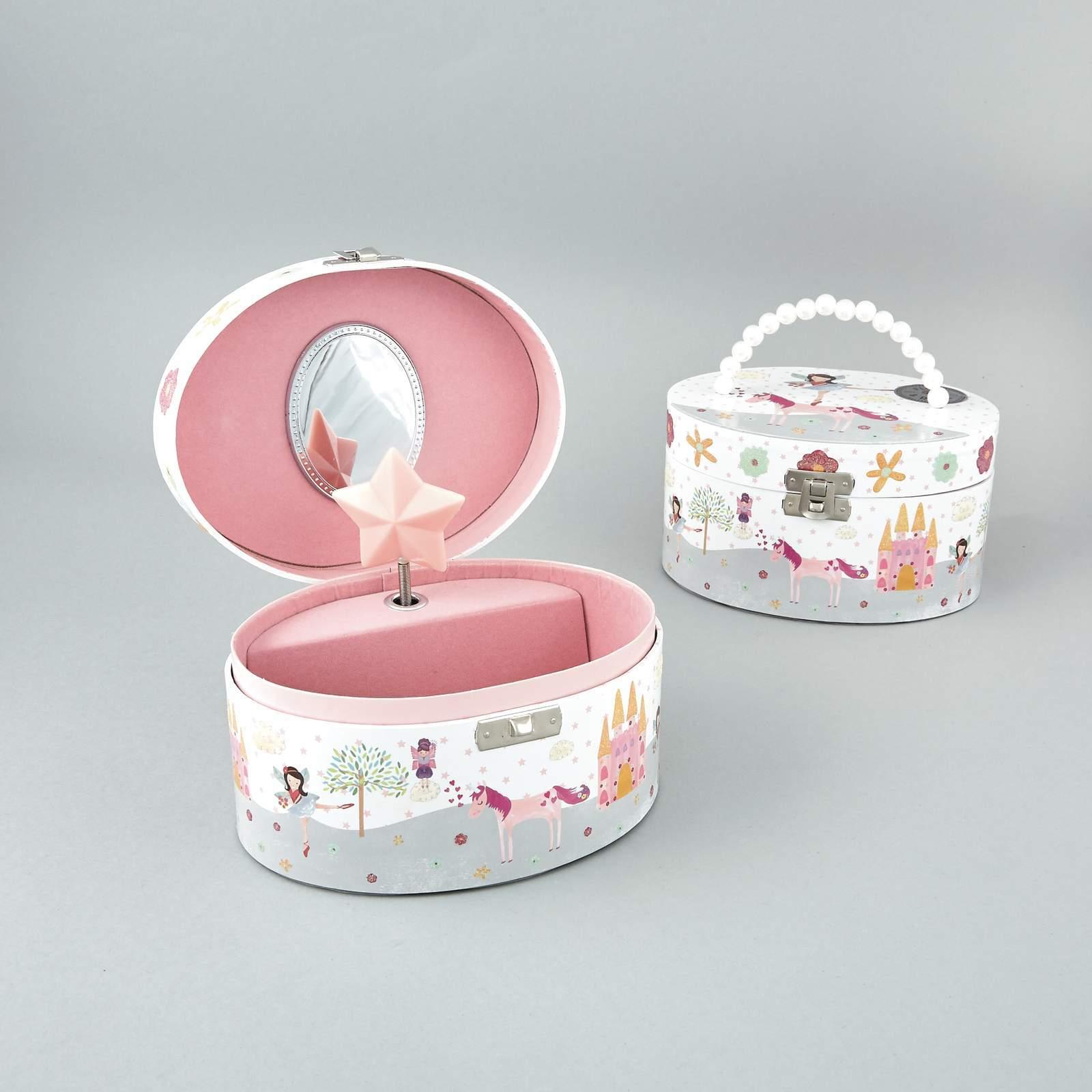 Stunning Unicorn Shaped Mirror Gift Set Pink