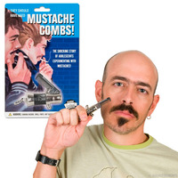 Switchblade Moustache Comb