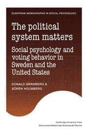European Monographs in Social Psychology by Donald O. Granberg
