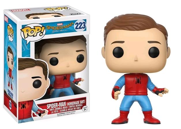 Spider-Man: Homecoming - Spider-Man Homemade Suit (Unmasked) Pop! Vinyl Figure