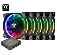 120mm Thermaltake: Riing Plus Radiator Fan - RGB TT Premium Edition (5 Pack)