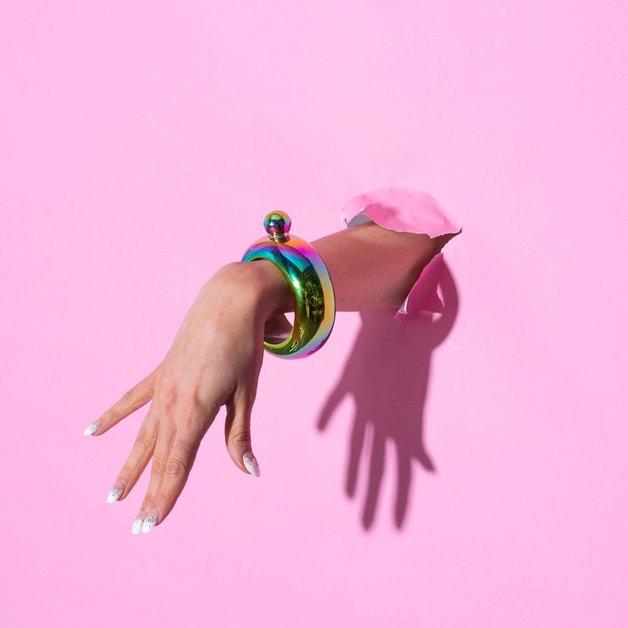 Blush: Charade: Bracelet Flask - Rainbow