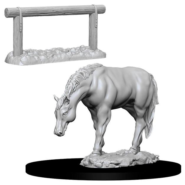 D&D Nolzur's Marvelous: Unpainted Miniatures - Horse & Hitch