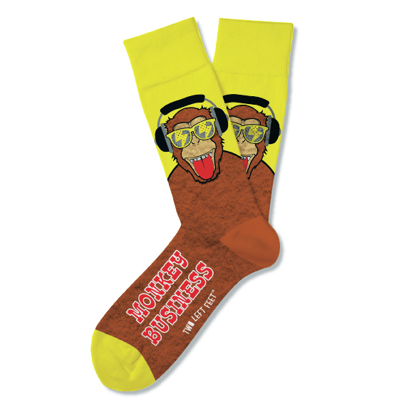 Two Left Feet: Monkey Business Socks - Small