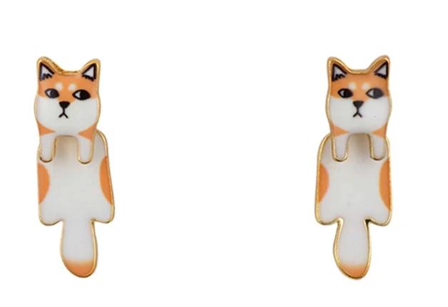 Short Story: Dog Drop Earring - Shiba