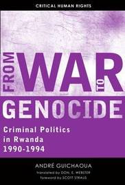 From War to Genocide by Andre Guichaoua image