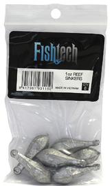 Fishtech Reef Sinkers 1oz (6 per pack)