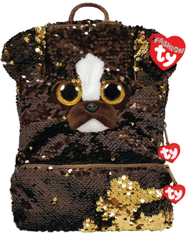 Ty Fashion: Sequin Backpack - Brutus Dog