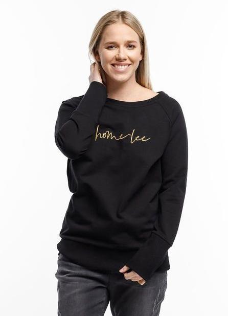 Home-Lee: Crewneck Sweatshirt - Black With Gold Home-lee - 16