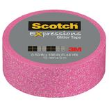 Scotch Expressions Glitter Washi Tape - Pastel Pink (15mm x 5m)