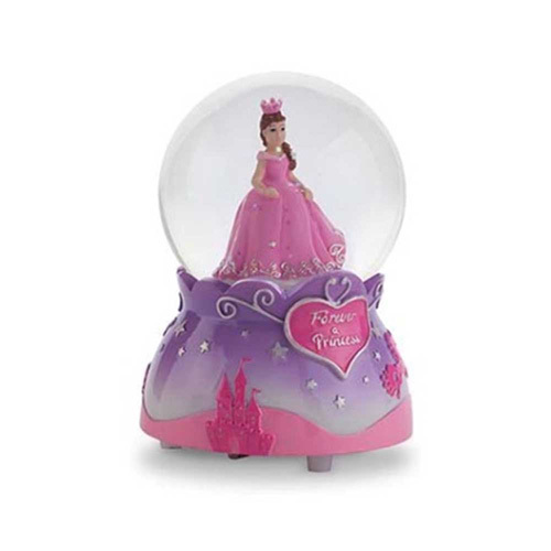Pink Poppy: Forever a Princess Musical Snow Globe - Lilac image