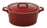 Maxwell & Williams Chef du Monde Round Casserole 600ML Red Gift Boxed