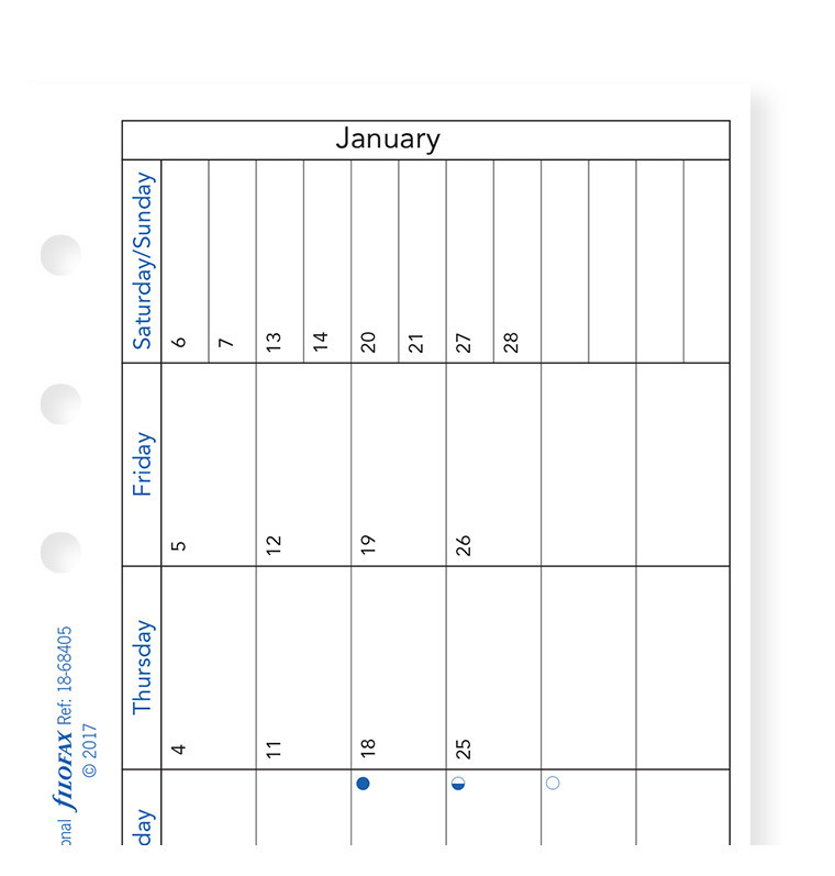 Filofax: Personal 2019 Refill - Month per Page (Horizontal, Lined) image