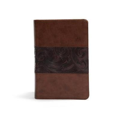 CSB Study Bible, Personal Size Edition, Mahogany LeatherTouch by Csb Bibles by Holman