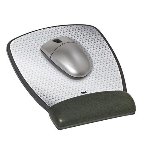3M MW309LE Precise Mouse Pad with Gel Wrist Rest - Black image