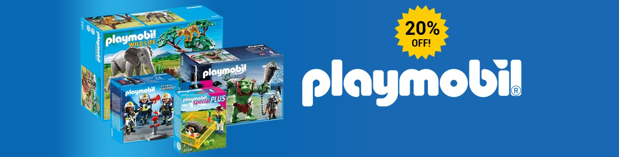 20% off Playmobil!
