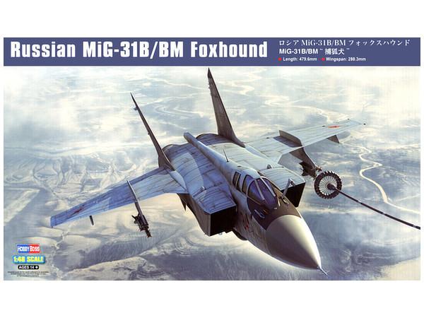Hobby Boss: 1/48 Russian MiG-31B/BM Foxhound - Model Kit