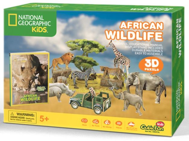 National Geographic Kids: African Wildlife - 69 Piece 3D Puzzle