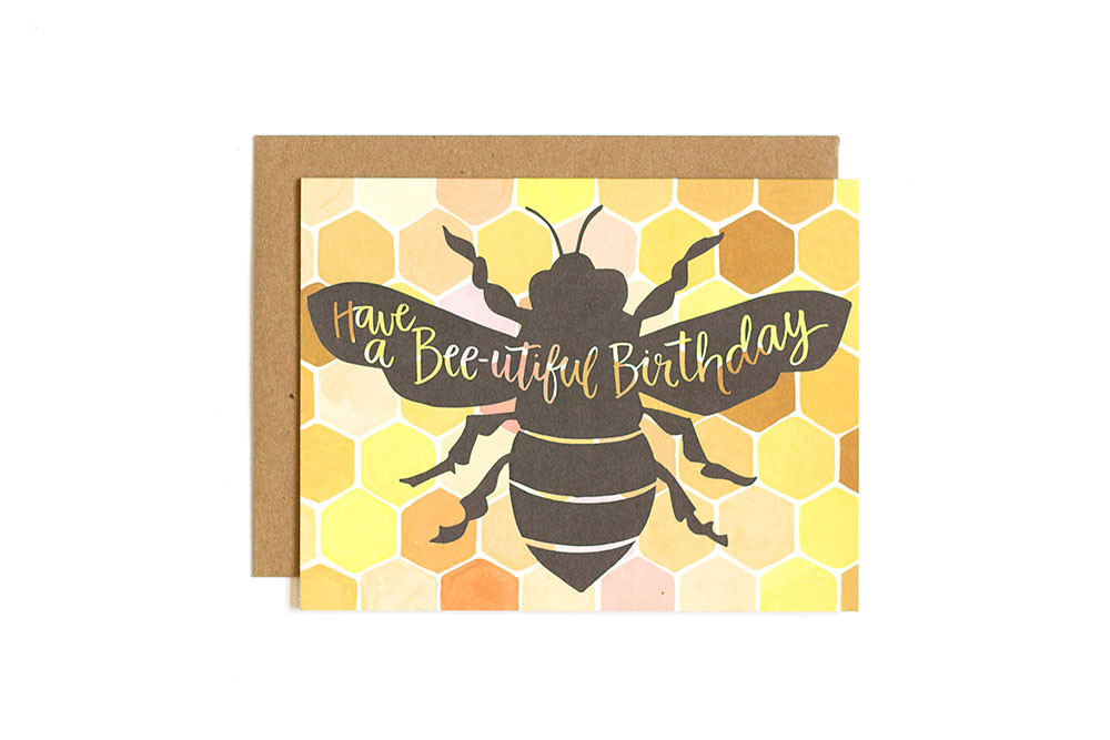One Canoe Two: Bee-utiful Birthday - Greeting Card image